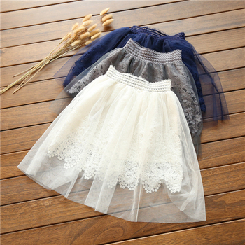 summer style Fashion Cute Lace Flower Teenagers Skirt Mini Princess Children Skirt Suit Girls Tutu Skirt suitable for 90-130cm
