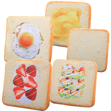 1pc 40cm creative Simulation toast bread cushion plush toy stuffed pillow realistic food funny gift for kids Room Decoration