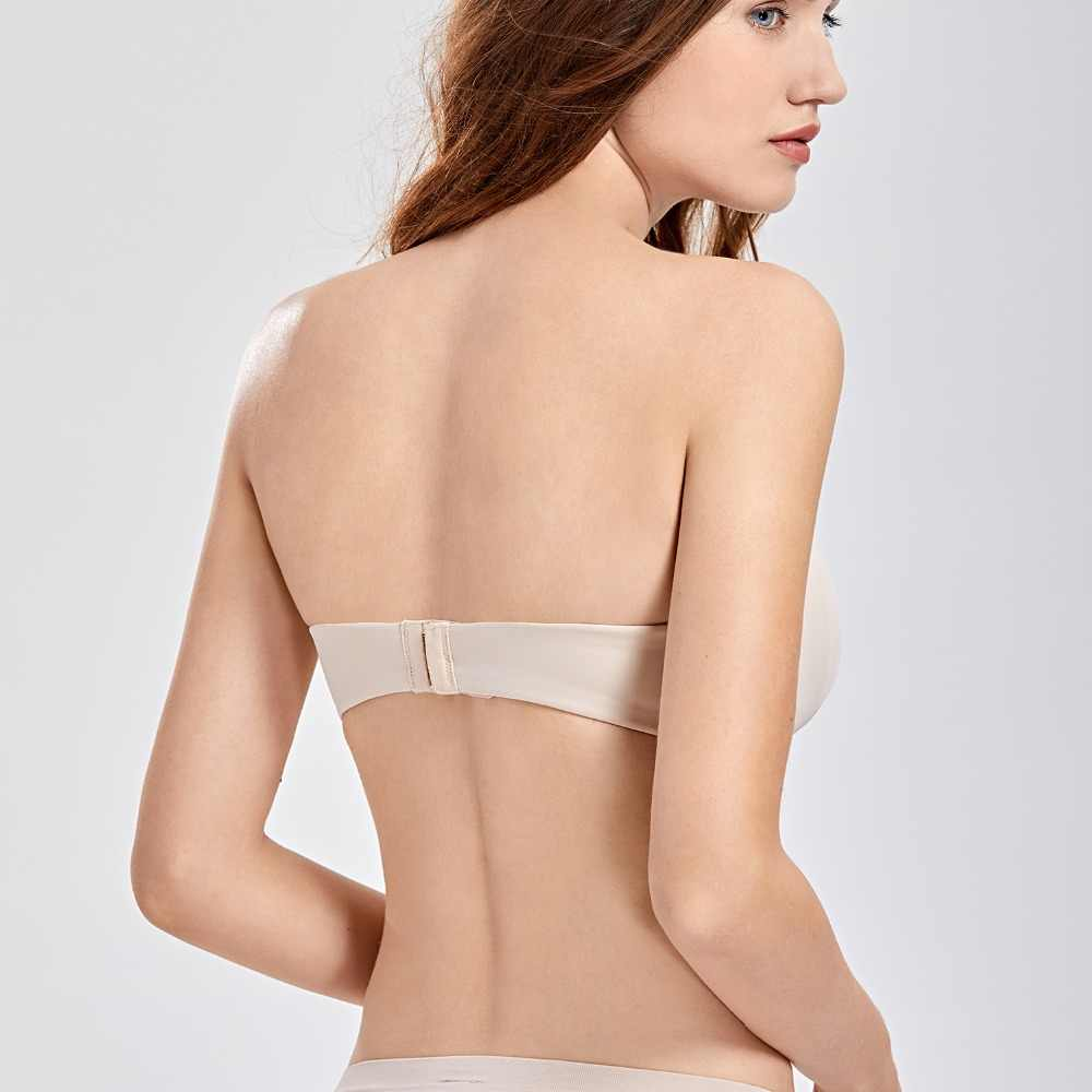 4cd6a7ced22 ... Minimizer Bra  Women s Smooth Seamless Invisible Full Coverage  Underwire Strapless Minimizer ...