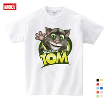 100% Cotton Childrens Summer T-shirts Favorite Tom Cat Prints T Shirt and His Friends Cartoon 3T-9T