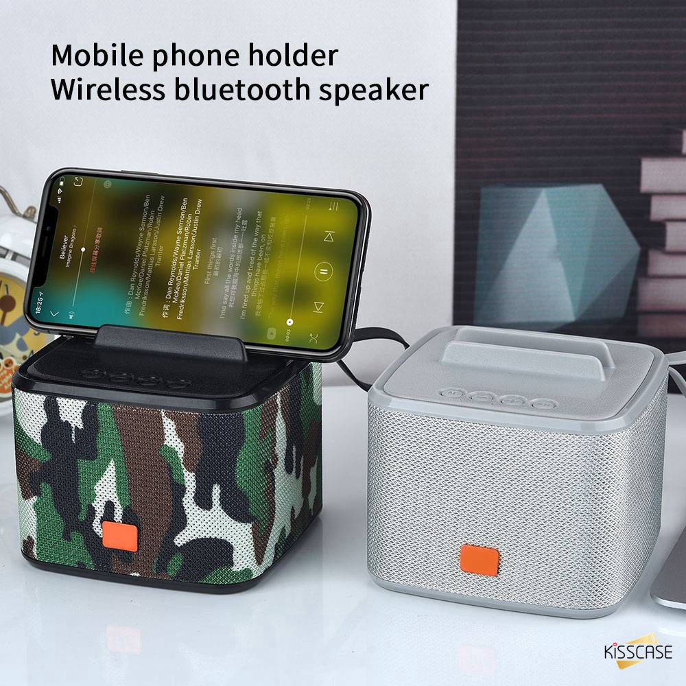 Buy It KISSCASE Wireless bluetooth speaker Stereo Music speaker For xiaomi huawei Mobile Phone Computers MP3 MP4 phone bracket image