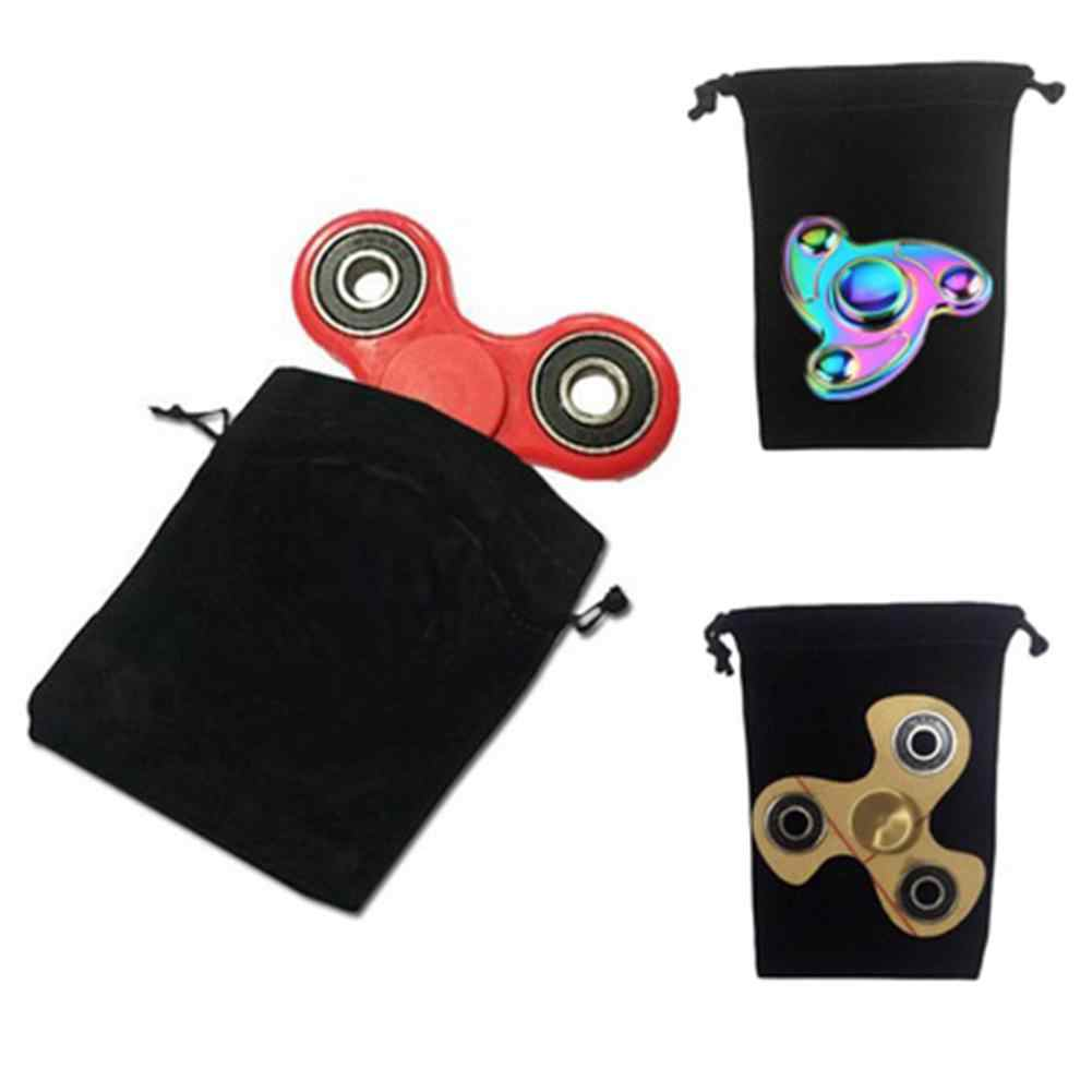 1 Pza suave Cordón de almacenamiento portátil bolsa de transporte para joyería reloj presenta fidget Spinner de almacenamiento de mano