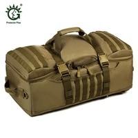 60L Dual Use Backpack Outdoor Men Women Sports Bag Military Tactical Bags Hiking Camping Waterproof Wear resisting Nylon Bag