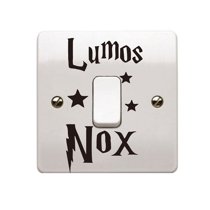 Harry Potter Vinyl Wall Sticker Lumos Nox Light Switch Decals Sticker Home Switch Creative Decor of 3pcs per set