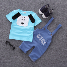 Free shipping Summer new baby boy clothes cotton material fashion design boys clothing set A002-10