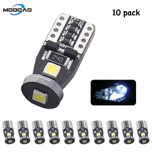 10pcs T10 3030 LED Auto Clearance Lights W5W W10W 3SMD LED Car Door Light Reading Lamps License Plate Light Trunk light yumseen 10pcs car styling t10 w5w cob led 2w pure white clearance light marker lamps license plate lights new arrivval