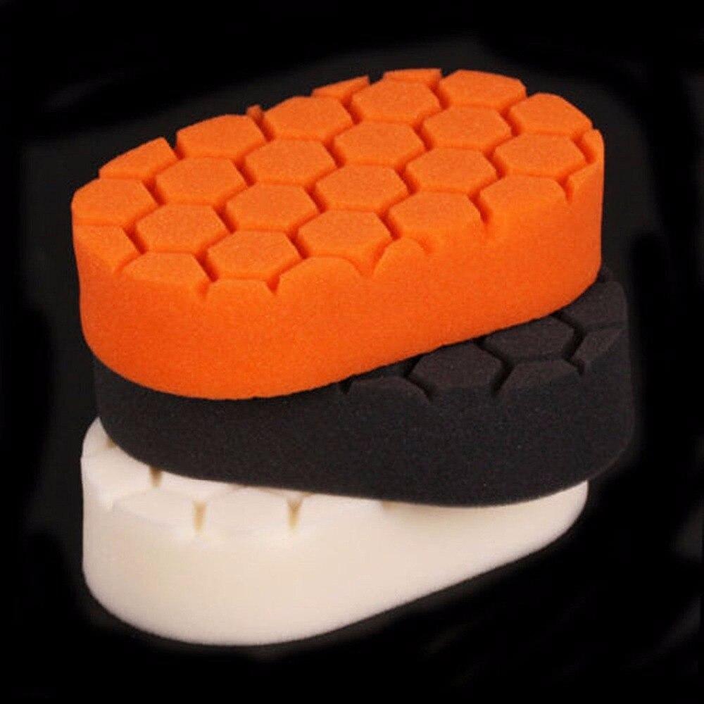 цена на New Arrrival 3pcs/set Hex-Logic Buffing Sponge Polishing Pad Sets Hand Tool For Car Polisher Wax 15 x 8.5 x 2.8cm
