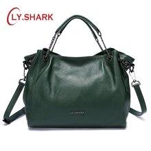 LY.SHARK 여성용 가방 메신저 백 여성용 숄더 백 2019 Luxury Handbags 디자이너 여성용 가방 여성용 정품 가죽