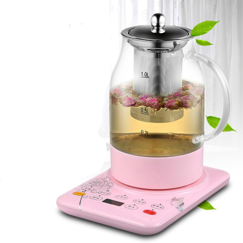Electric kettle Curing pot Tea black tea pu 'er fully automatic thickened glass multi-function flower teapot Overheat Protection [grandness] 2010 yr fuhai tea factory 7546 raw pu erh cake shen puer tea 357g fu hai puer green tea 357g pu erh green