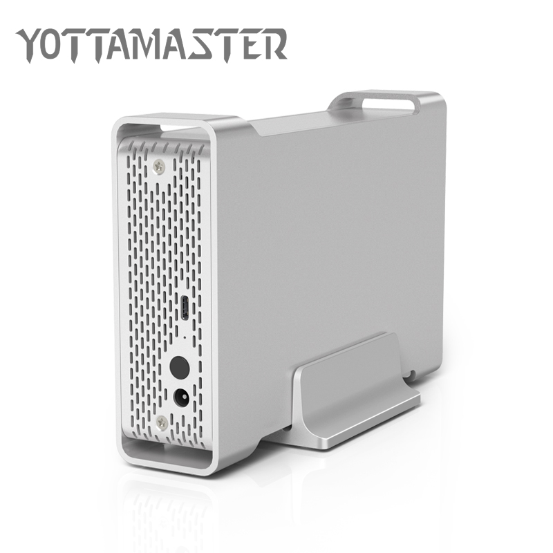 Yottamaster D35 High-end HDD Enclosure Type-C to SATA Single Bay External HDD Case Docking Station for 3.5 HDD Support UASP 8TB yottamaster hdd enclosure sata to usb type c 2 5 inch hdd case external hard drive box support raid for 2 5 inch 7 15mm hdd