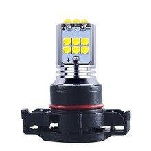 2 sztuk PSX24W H16 5202 Super Bright 1800lm Chip Cree LED Auto przednie światło przeciwmgłowe samochodów przeciwmgielne światła przeciwmgielne żarówka jazdy żółty biały