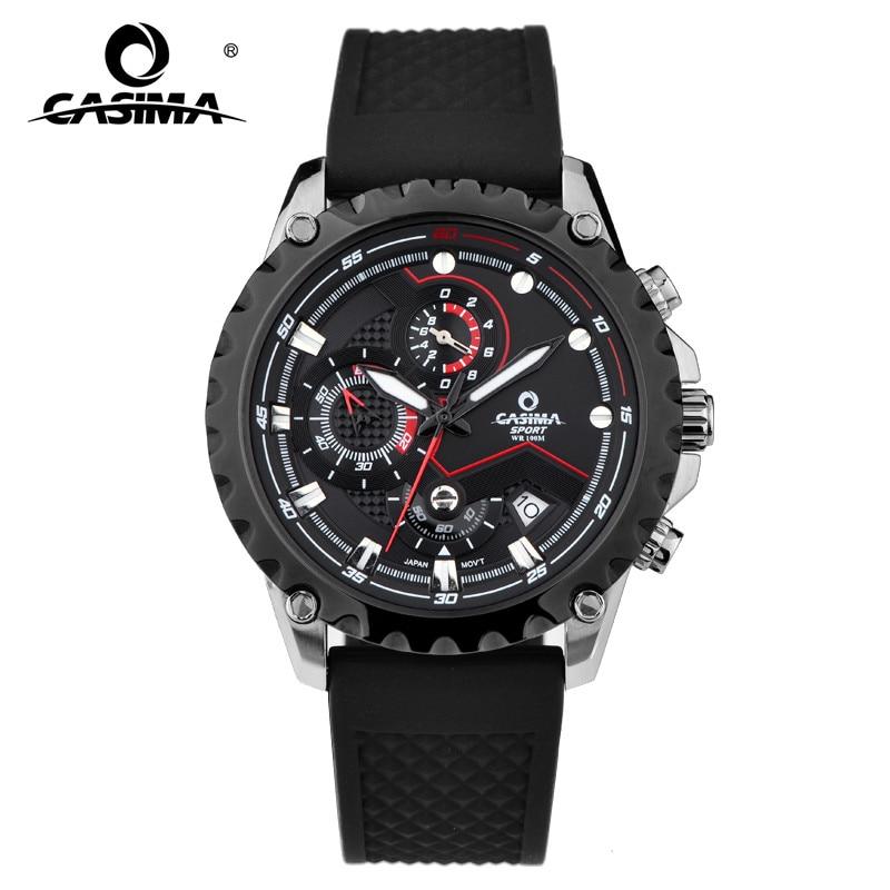 Nouveau luxe marque classique sport montres hommes Cool lumineux hommes Quartz mouvement calendrier affichage étanche 100 m # CASIMA 8203