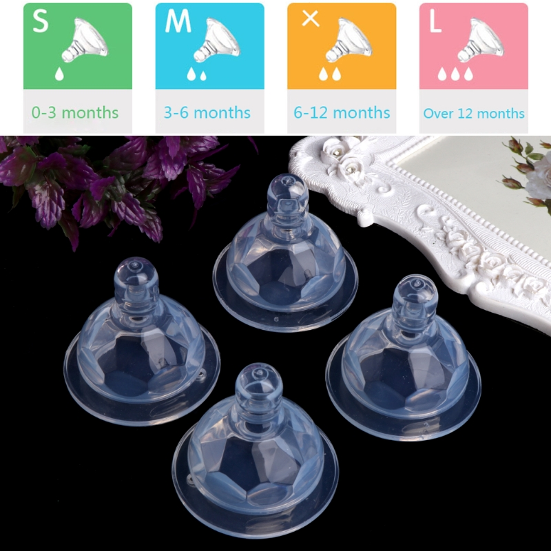 Baby Infant Wide Neck Caliber Breast Nipple Newborn Silicone Bottle Nipples New W15
