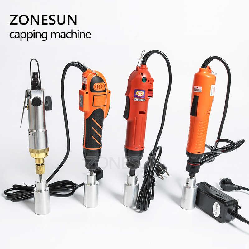 ZONESUN дополнительная Смешанная укупорочная машина портативная автоматическая электрическая машина с защитным кольцом, укупорочная машина