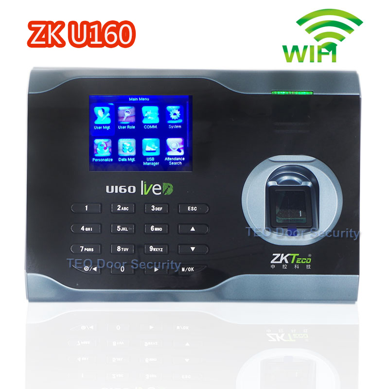 ZKeco U160 Fingerprint Time Attendance System WIFI TCP IP Fingerprint Time Clock Russian English Spanish