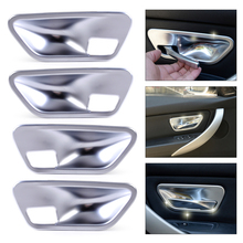 DWCX 4Pcs Chrome Interior Door Handle Cup Bowl Cover Trim for BMW 3 4 Series F30 F32 320i 325i 328i 330d 420i 428i 2013 2014