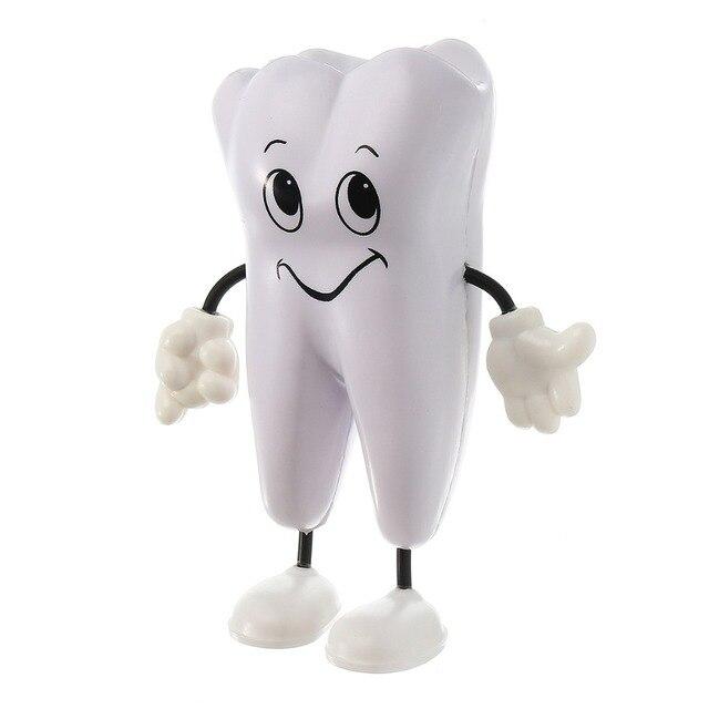 1 Pc figura de dientes juguete de apretón suave espuma PU diente modelo forma Kawaii clínica Dental odontología artículo promocional dentista regalo