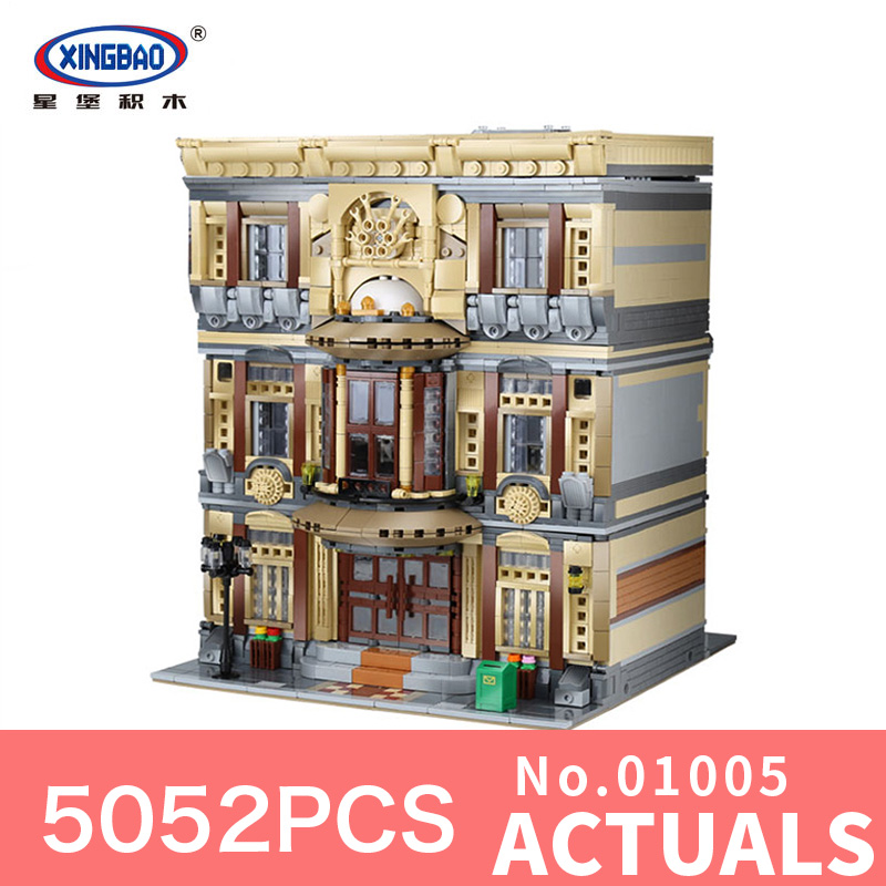 XingBao 01005 5052Pcs Genuine Creative MOC City Series The Maritime Museum Set Building Blocks Bricks Model for children Gifts the maritime engineering reference book