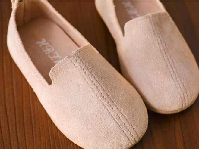 Yeni 2018 Bahar Çocuk rahat ayakkabılar Erkek Loafer'lar Yumuşak Düz Moccasins Kızlar Ayakkabı 1-7 Yıl Çocuk slip-on ayakkabılar #8A240733