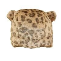 Kid sombreros de invierno nuevo estilo de moda leopard cat modelo de oído Tapas de Protección Del Oído del bebé Del Niño de Nieve Caliente Gorras 1 unids envío gratis