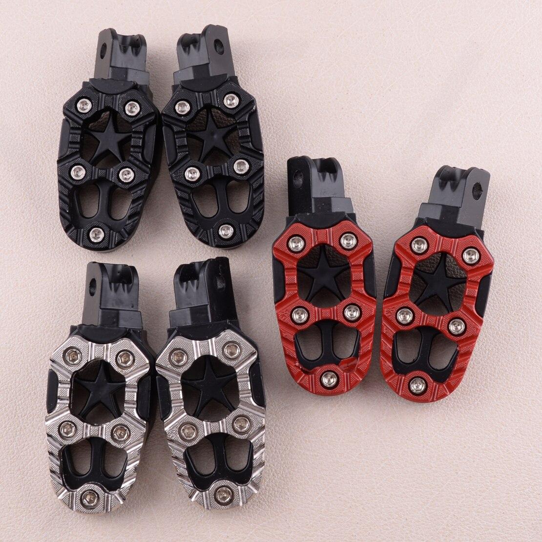 DWCX 2pcs 8mm Aluminum Alloy Footrest Anti-slip Foot Peg Pedals For Dirt Bike Motorcycle