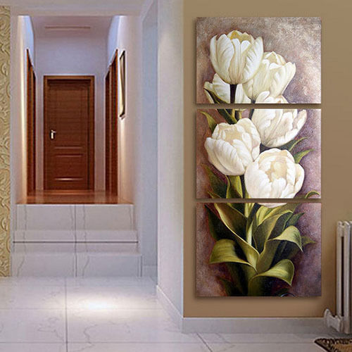 home office artwork. Tulips 3 Panels Wall Art Canvas Paintings Decorations For Living Room Home  Office Artwork Giclee Home Office Artwork O