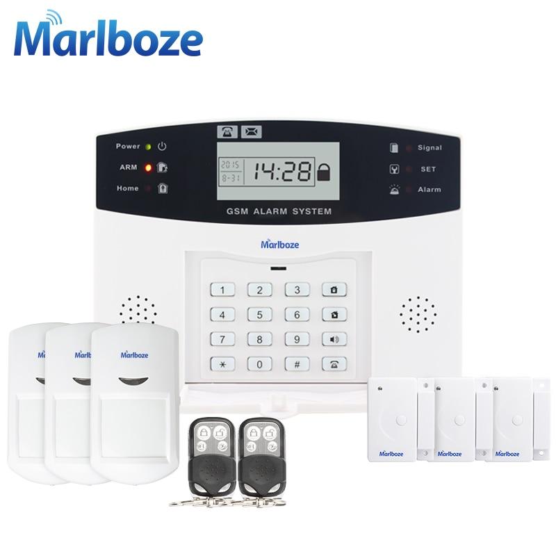 ФОТО 8 Wired Defense Zone LCD Display Home GSM Voice Alarm System with Door Sensor PIR Detector intercom Monitor Wireless Quad Band