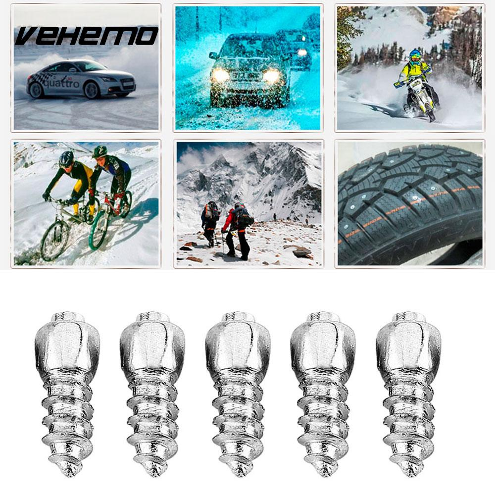 100PCS 12mm Stud Screw Car Tires Studs Screw Snow Spikes Wheel Tyres  ATV Anti-Slip Screw Stud Car Motorcycle Tires Winter