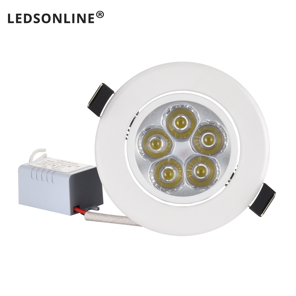 Residential LED Downlight Dimmable 1W 3W 4W 5W 7W Warm Nature Pure White 110V 220V Recessed LED Lamp Spot Light Indoor Lighting(China)