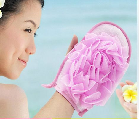 With bath flower gloves / bath glove / bubble bath flowers small rub cloth sponge towel personal care bath sponge DCZJ10