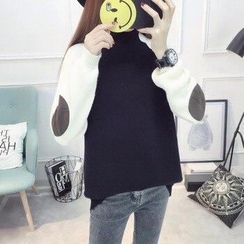 2018 Новые поступления Для женщин джемпер пуловеры Демисезонный модные Для женщин зимний свитер Свободные свитеры свободные Femininas Blusas