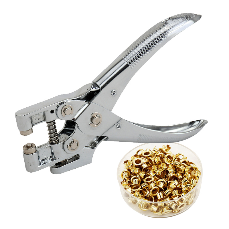Metal 4.8mm Round Hole Punch Paper Retainer Puncher Machine DIY Loose-Leaf Paper Cutter Puncher Scrapbooking Tools