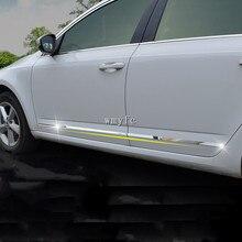 Для Skoda Octavia- модифицированные специальные молдинги на кузов, яркие дверные накладки из нержавеющей стали, автомобильные аксессуары