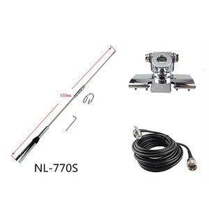 Image 2 - NL 770S car radio antenna Dual Band UHF/VHF 144/430MHz 150W 2.15/3.0dBi antenna for Car Walkie Talkie BJ 218 MP320 Ham Radio