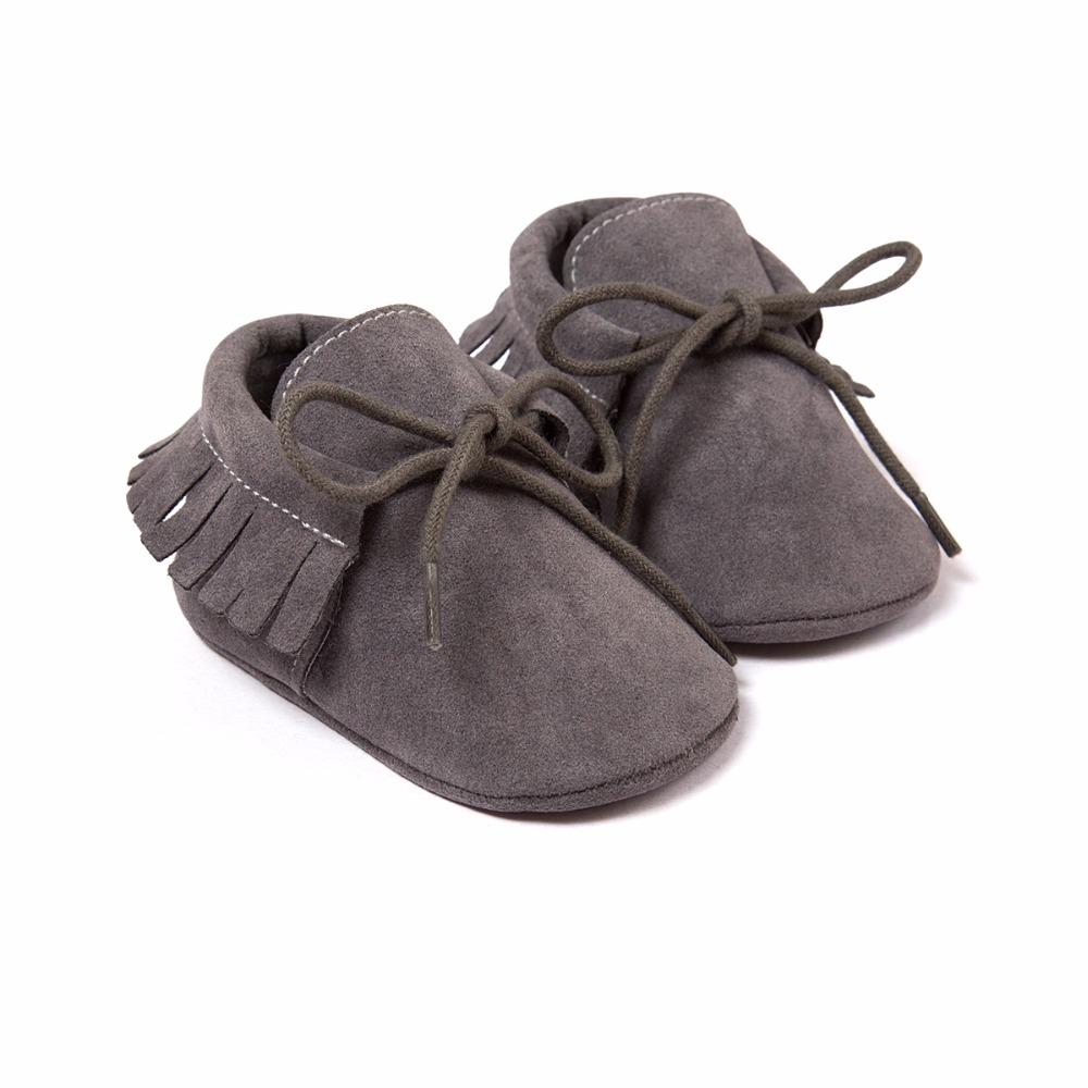 Mother & Kids ... Baby Shoes ... 32688131716 ... 4 ... Kacakid Baby Shoes PU Suede Leather Newborn Baby Boy Girl Moccasins Soft Shoes Fringe Soled Non-slip Crib First Walkers Shoes ...