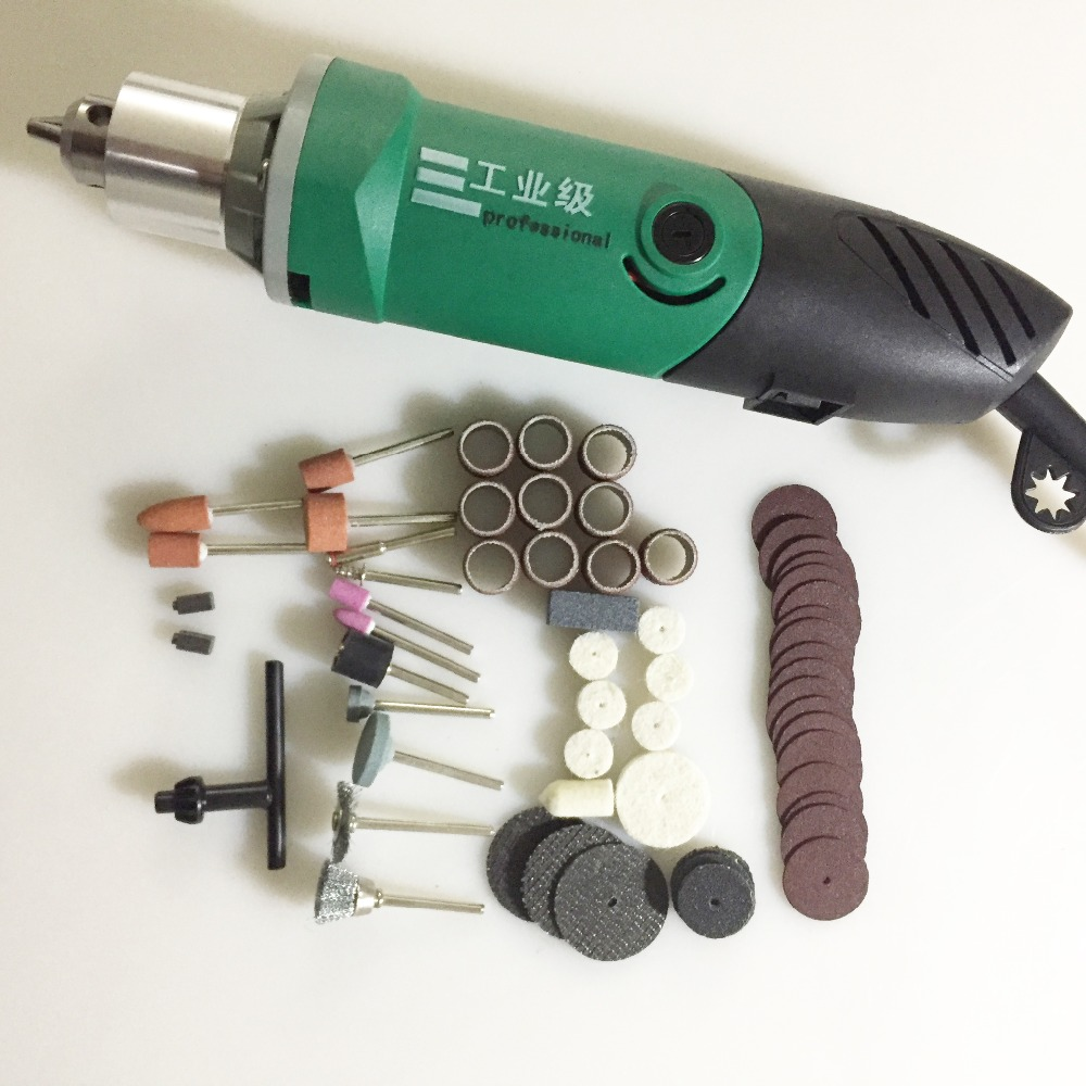 230W Electric Dremel Engraving Mini Drill Polishing Machine Variable Speed Rotary Tool With 186pcs Power Tools Accessories