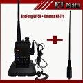 Baofeng UV-5R rádio em dois sentidos Walkie Talkie Rádio portátil Dual band uv 5r + na771 Dual Banda Larga Antena SMA-F FEMALE Macio NA-771