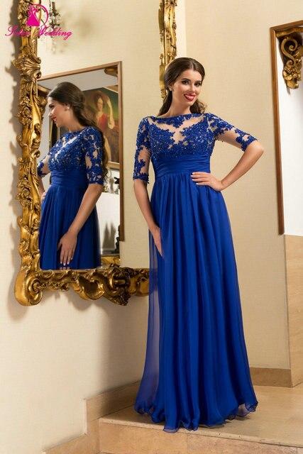 Vestidos azul rey de encaje