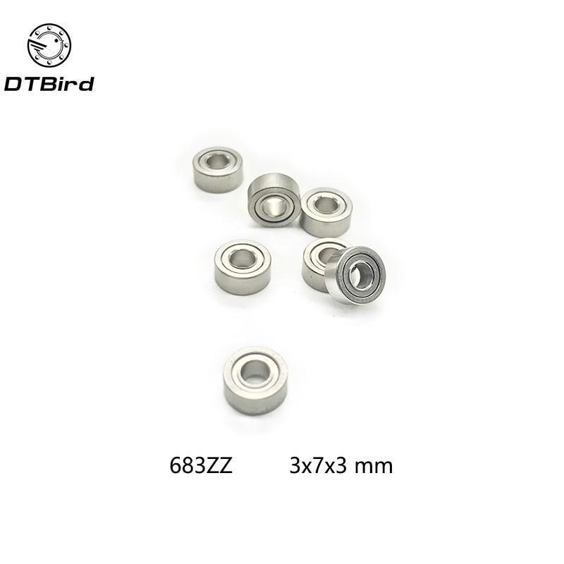 50Pcs High quality 683ZZ L-730ZZ ball bearing 3x7x3 deep groove ball bearing free shipping free shipping 20pcs u624zz u624 u groove deep groove ball bearing 4x13x7mm for 5 5mm shaft carbon steel