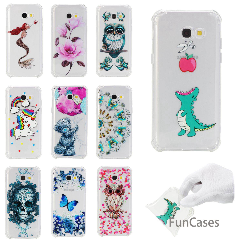 Flower Case sFor Etui Samsung A5 2017 Soft Silicone Back Cover Back Geometric Cep Telefonu Case sFor Samsung Galaxy A520 Ajax