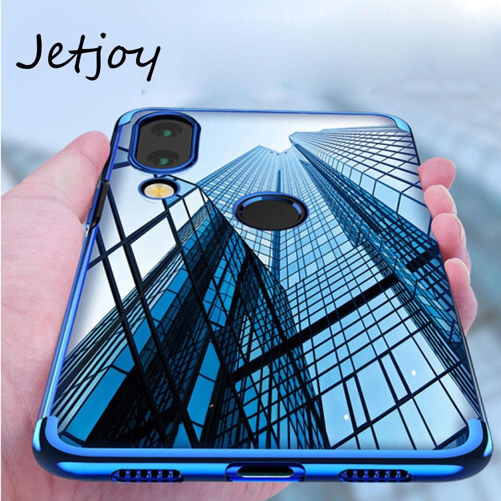 Jetjoy phone Case for Huawei Nova 3i clear crystal Transparent TPU Soft plating Mobile Phone Back for Huwei Nova 3 silicion case
