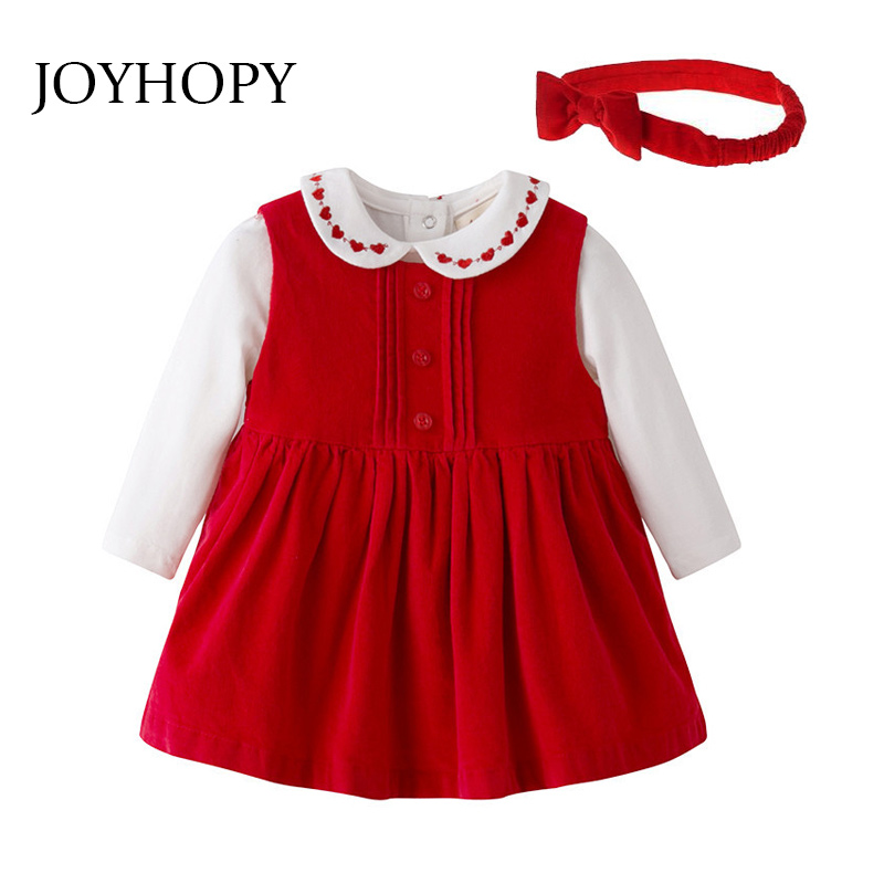 3PCS Baby Girl Clothes Cotton Bodysuit+Vest dress +Hairband Newborn Baby Clothing Infant Jumpsuits Baby Clothing Set