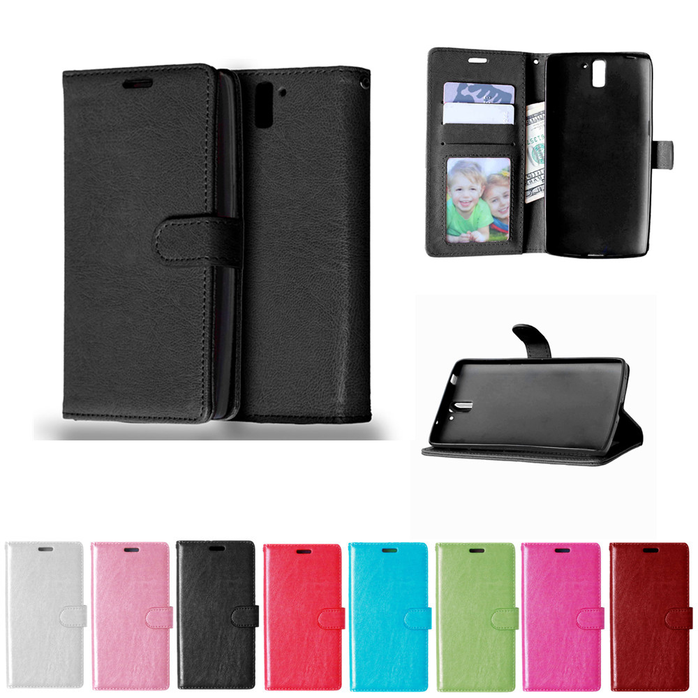 for OnePlus One One Plus One Case Solid color Leather ...