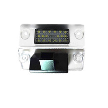 2PCS 18smd Led license plate light t10 for Audi A4 B5 1996~2000 A3 8L Facelift 1996~2000 Number plate lights lamp Car-styling