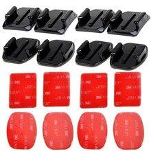 Base de montaje adhesivo curvo plano con almohadillas adhesivas VHB Para Gopro Hero 8 7 6 5 4 3 SJCAM SJ4000 SJ6000 H9 Kits