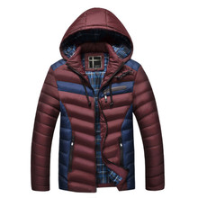 MORUANCLE New Men's Winter Warm Jackets And Coats With Detachable Hat Thick Warm Thermal Parka For Man High Quality Size L-XXXL