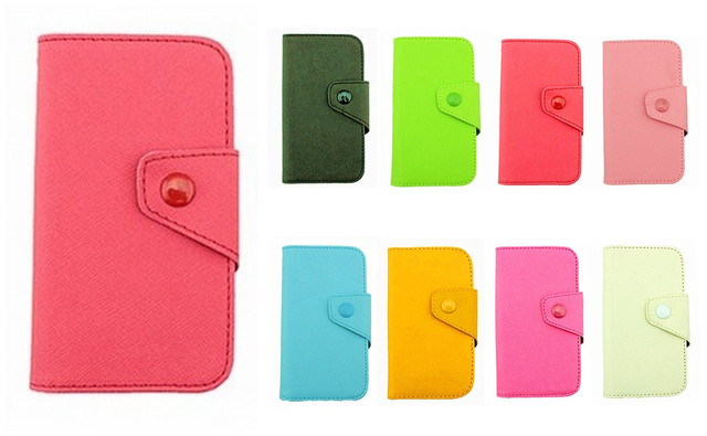 Fancy PU Leather Wallet Case Cover With Magnetic flap closure Diary for Samsung Galaxy Gio S5660 Smart Mobile Phones