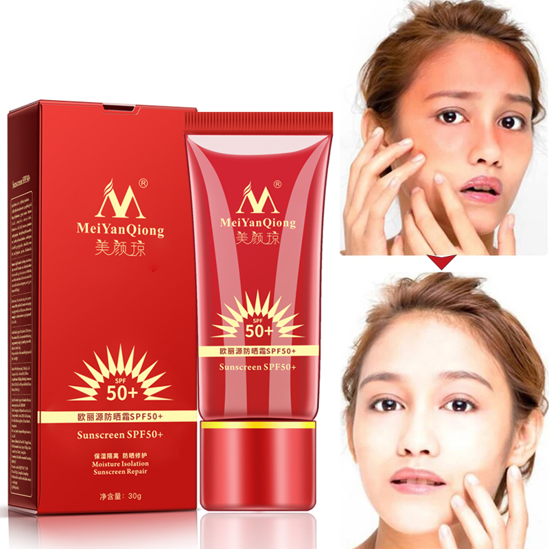 Sunscreen BB Cream SPF50  Sunblock Skin Protective Moist Revitalizing Makeup Face Care Whitening Compact Foundation Concealer
