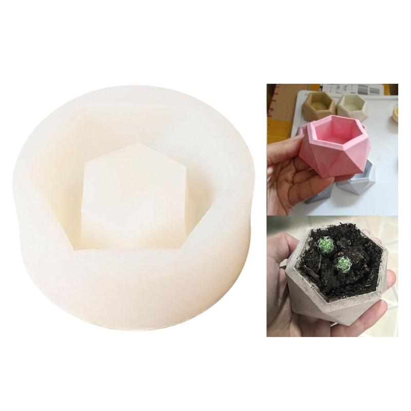 Diamond Shaped Surface Succulent Plant Flower Pot Silicone Mold DIY Ashtray Candle Holder Mold Fleshy Plant Pot