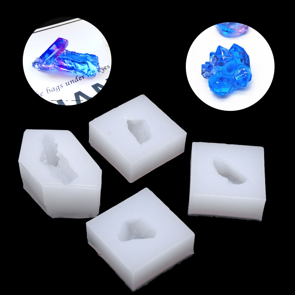 UV Resin Jewelry Silicone Mold Simulated Crystal Cluster Stone Earring Making